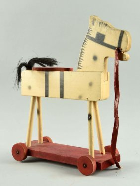Scarce Fisher Price Painted On Wood No 225 Horse