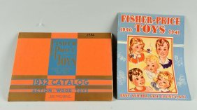 Lot Of 2: Early Scarce Fisher Price Toy Catalogs.