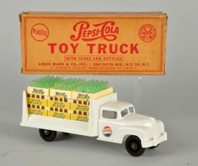 Marx Plastic Toy Pepsi Truck In Box.