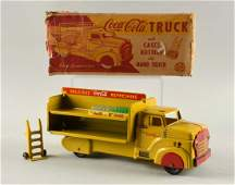 Marx Yellow Steel CocaCola Delivery Truck 21