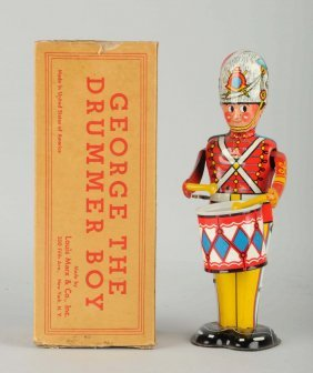 Marx Tin Litho Wind Up George The Drummer Boy.