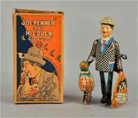 Marx Tin Litho WindUp Toy Joe Penner  His Duck