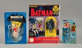 Lot Of 3: Vintage Batman & Robin Items.