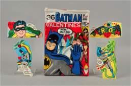 Box of Vintage Batman Valentines Day Cards