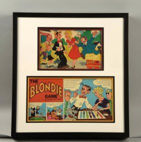 Nicely Framed Early Blondie Game.