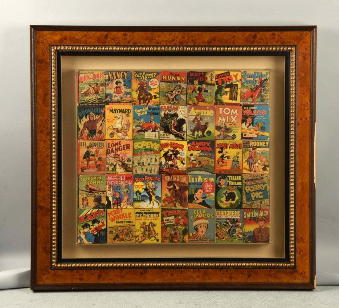 Nicely Framed Set of 35 Vintage Big Little Books.