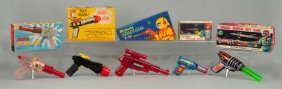 Lot Of 5: Japanese And American Space Guns.
