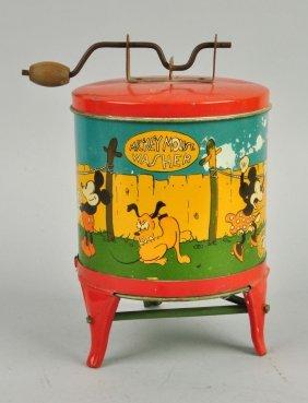 Walt Disney Tin Litho Child's Washing Machine Toy.