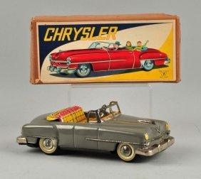 Japanese Tin Litho Friction Chrysler Convertible.