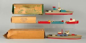 Lot Of 3: Keystone Boats In Boxes.