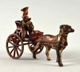 Cast Iron Girl With Cart & Dog.