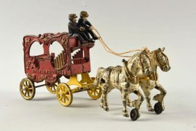 Cast Iron Horse Drawn Kenton Calliope Wagon.