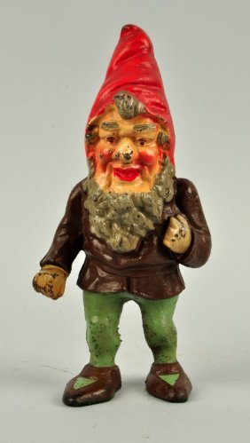 Cast Iron Gnome Doorstop.