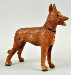 Cast Iron German Shepherd Dog Doorstop.