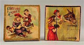 McLoughlin Bros Early Picture Cube Puzzle Set