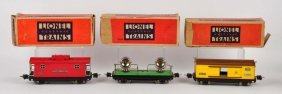 Lot Of 3: Lionel Train Cars In Boxes.