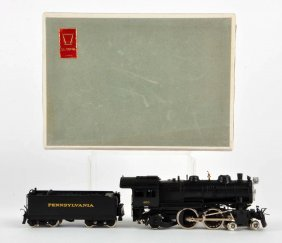 Japanese Olympia Brass Ho Train Engine & Tender.