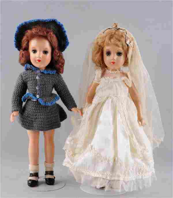 Lot Of 2: 1950's Composition Mary Hoyer Dolls.