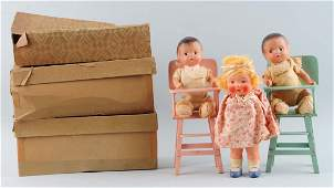 Lot Of 3: Vintage Boxed Dolls.
