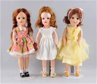 Lot Of 3: 1950's H.P. Mary Hoyer Dolls.