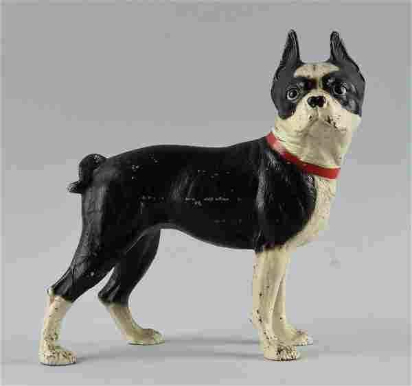 Cast Iron Boston Terrier Dog Doorstop.