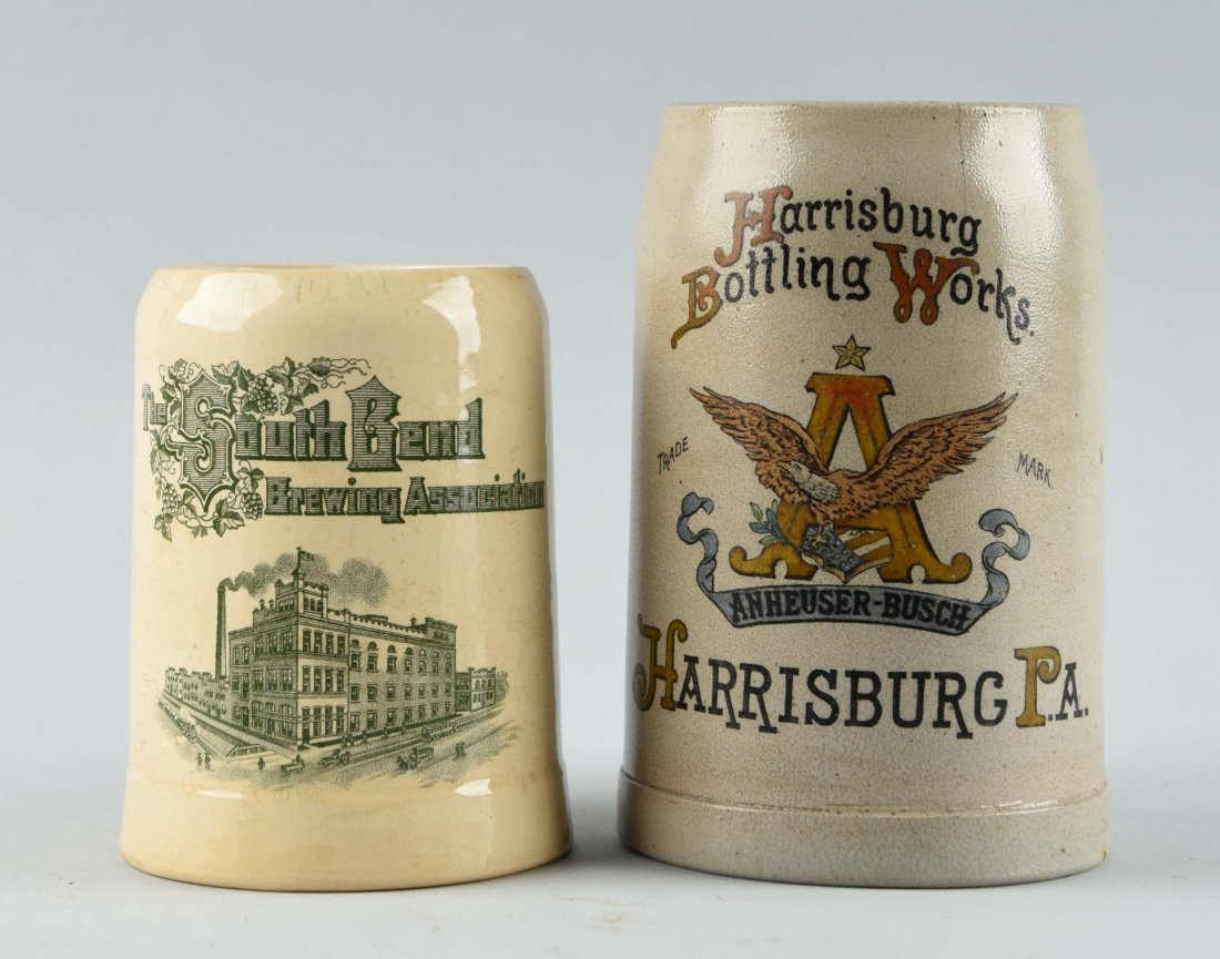 Lot Of 2: Early Beer Mugs.