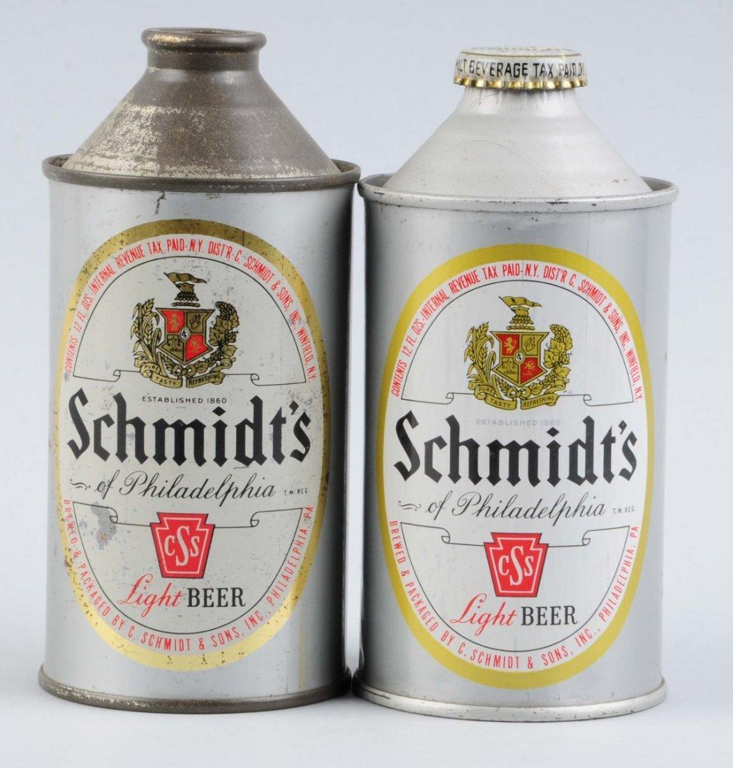 Lot Of 2: Schmidt's Cone Top Cans.