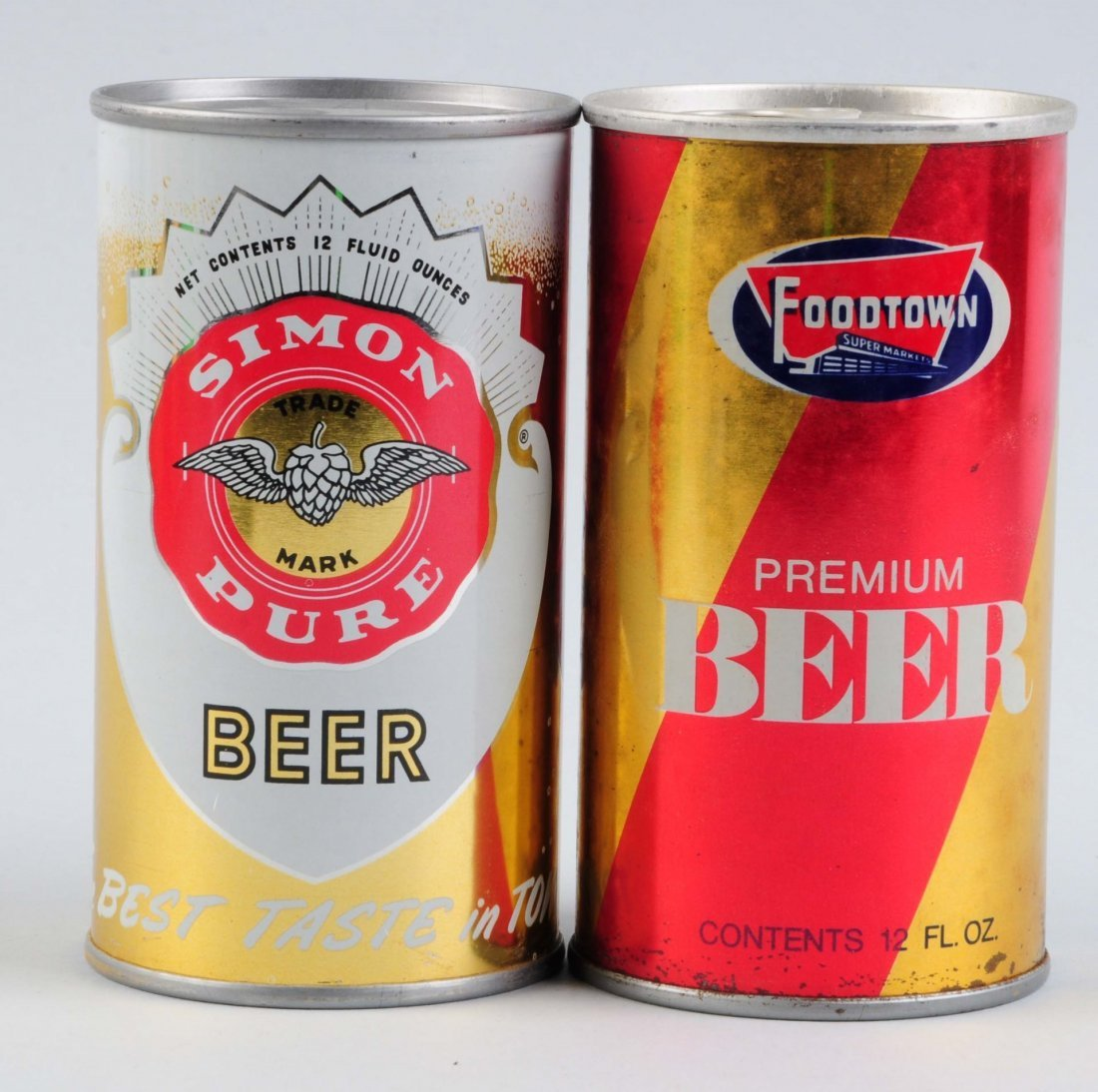 Lot Of 2: Simon & Foodtown Pull Tab & Bank Cans