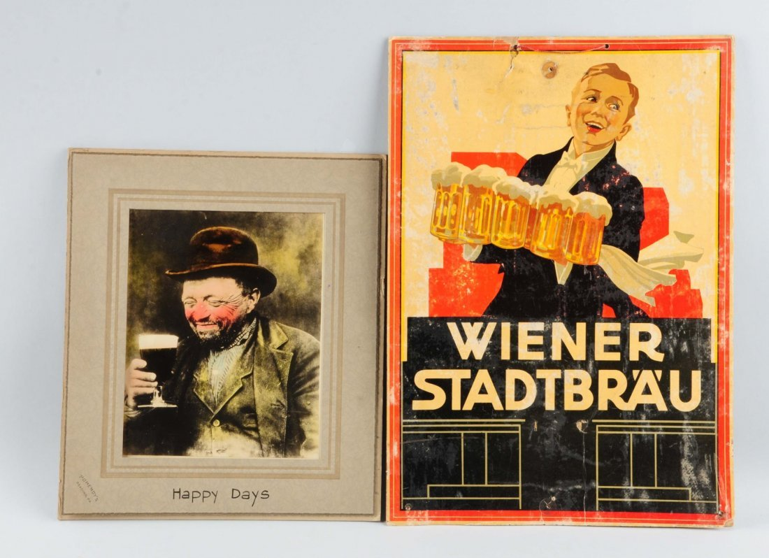 Lot Of 2: Beer Advertising Signs.