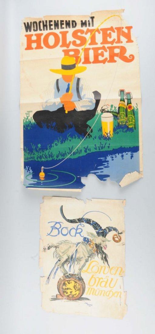 Lot Of 2: Holsten Bier & Bock Lowenbrau Posters.