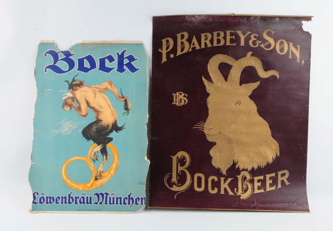 Lot Of 2: Bock Beer Advertising Posters.