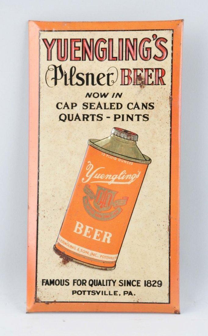 Yuengling Pilsner Beer Tin Advertising Sign.