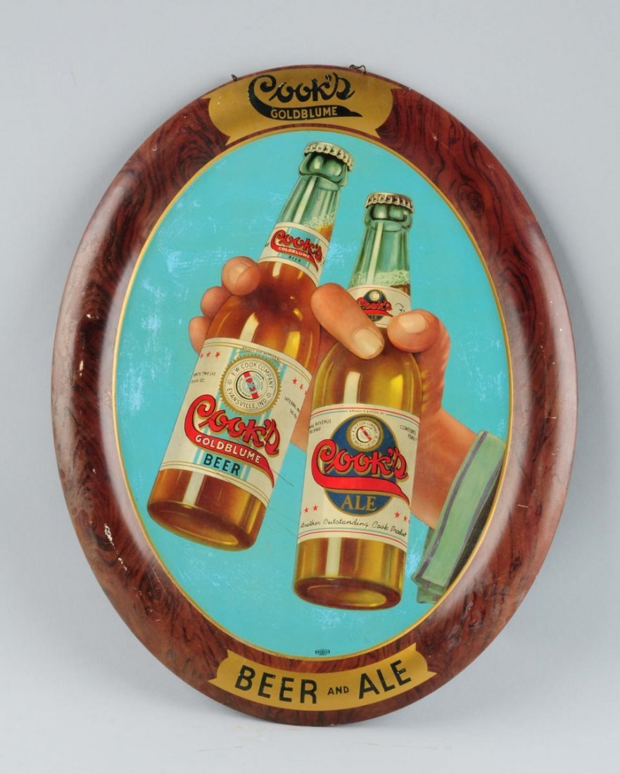 Self Framed Cook's Beer Tin Advertising Sign.