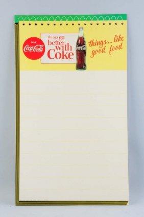1960's Coca Cola Easel Back Menu Sign.