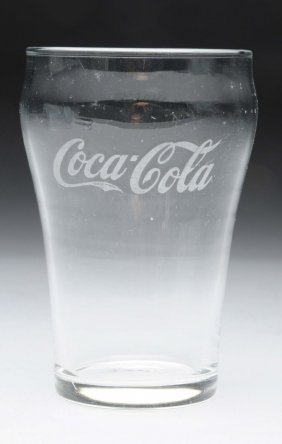 1920s Coca-cola Bell Glass With Acid Etched Logo.