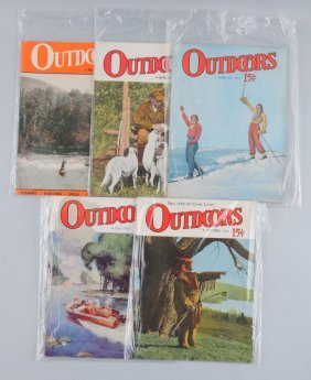 Lot Of 5: Outdoors Magazines.