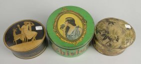 Lot Of 3: Product Tins.