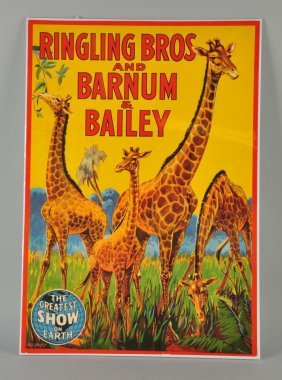 Ringling Bros. Barnum And Bailey Circus Poster