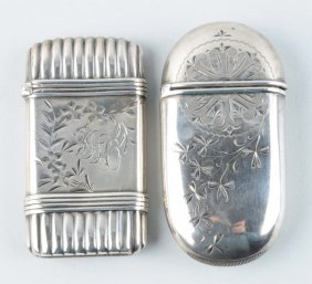 Lot Of 2: Sterling Silver Match Safes.
