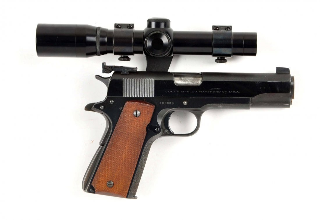 (C) Custom Colt Model 1911 A-1 38 Super Pistol.