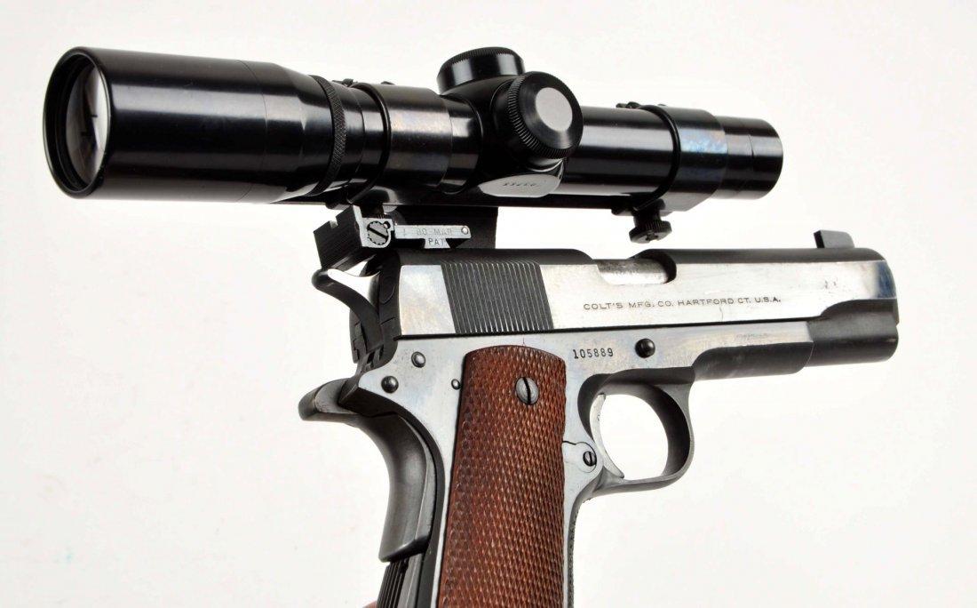 (C) Custom Colt Model 1911 A-1 38 Super Pistol. - 3