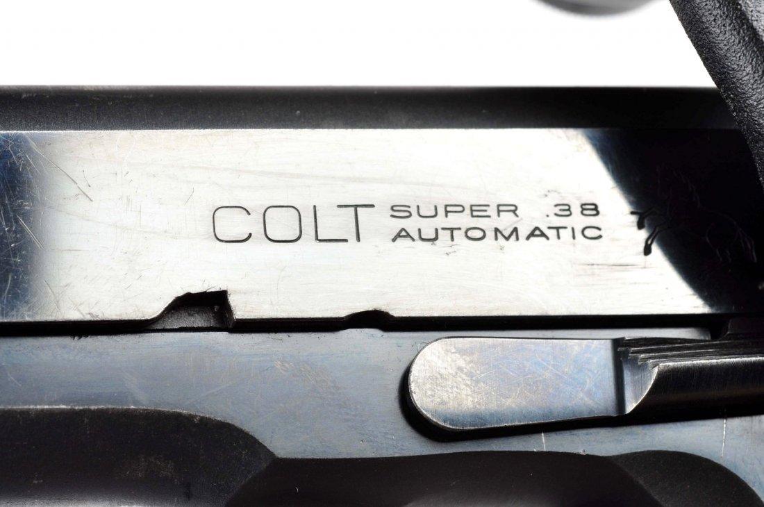 (C) Custom Colt Model 1911 A-1 38 Super Pistol. - 4