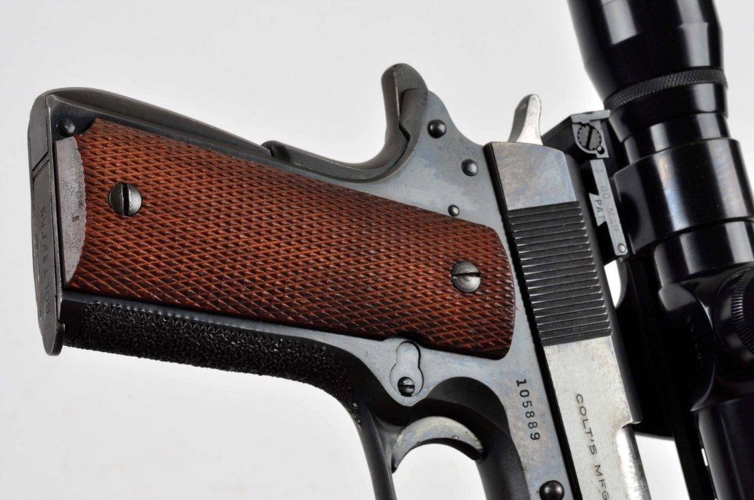(C) Custom Colt Model 1911 A-1 38 Super Pistol. - 6