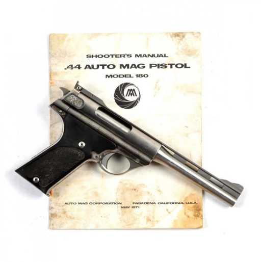 m auto mag model 180 357 amp prototype pistol