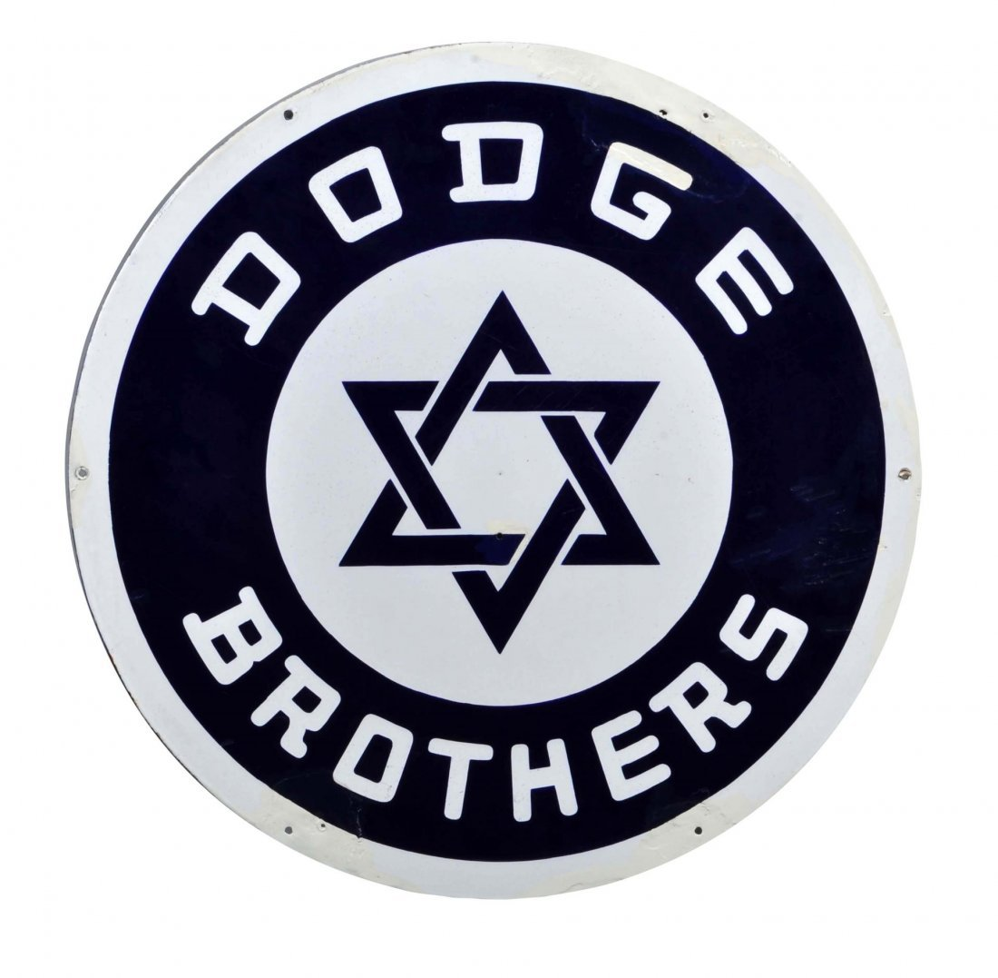 Early Dodge Brothers Porcelain Sign.