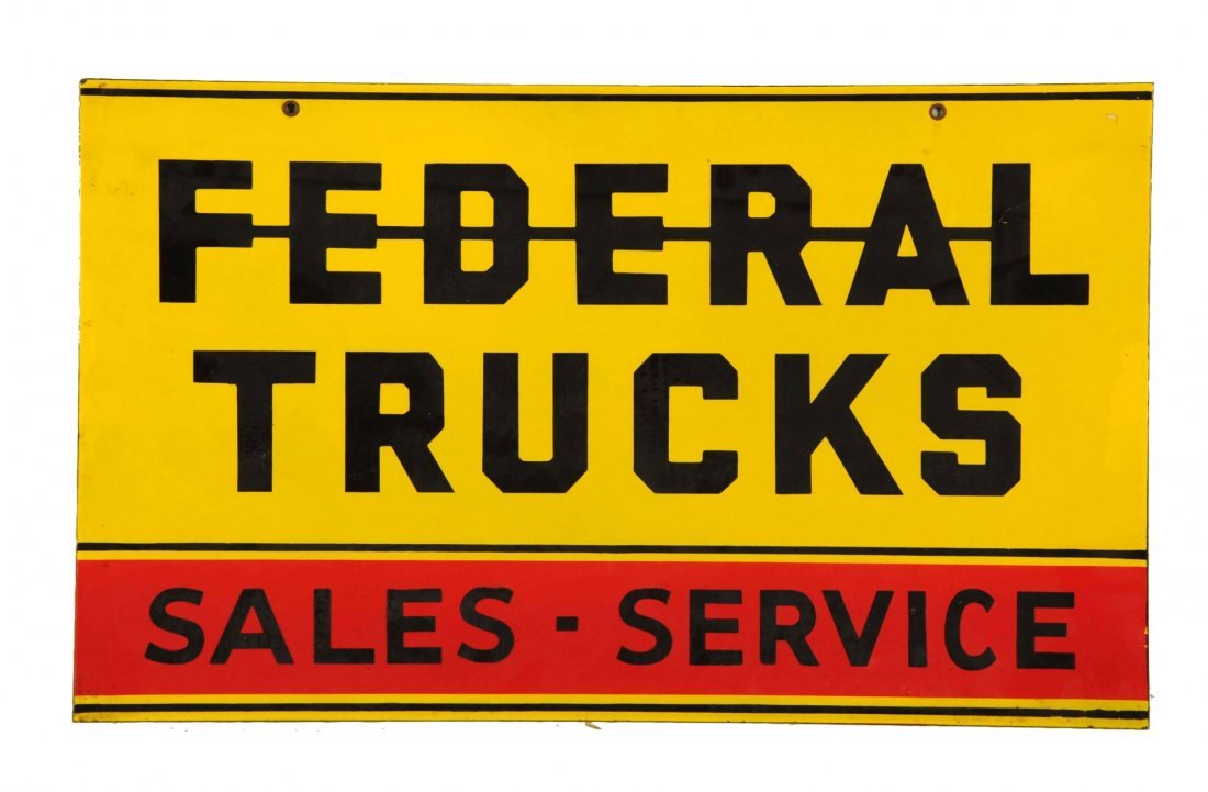 Federal Trucks Sales and Service Sign.