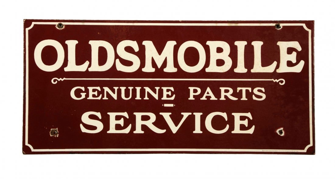 Oldsmobile Genuine Parts Service Sign.