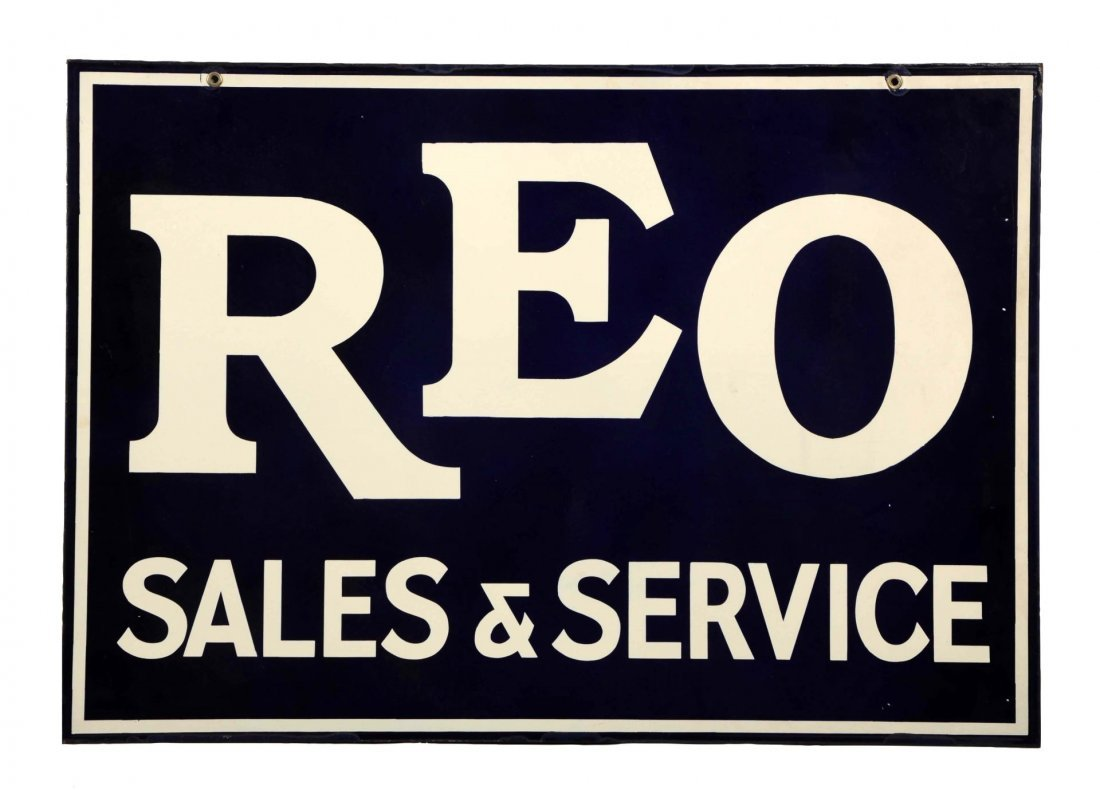 REO Sales and Service Porcelain Sign.