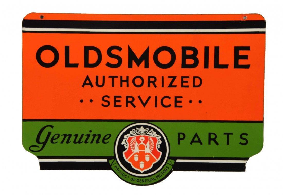 Oldsmobile Authorized Service Genuine Parts Sign.