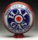 "Hal Gas ""Best Gas in Town"" 15"" Globe Single Lens."